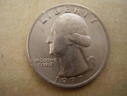 U.S.A. 1977  TWENTY FIVE Cents  WASHINGTON EAGLE  Condition USED  Very Good. - Other