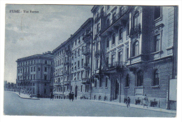 Fiume Via Roma VIAGGIATA 1937 ( Conservazione Come Da Scan  ) C.1678 - Italia