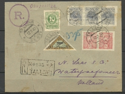Estland Estonia Estonie 1920 Air Mail Flugpost Ice Flight 15.03.1920 Via Helsinki Finland Nach Amsterdam Netherlands - Estonia