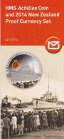 New Zealand 2014 Brochure About HMS Achilles Coin And Proof Currency Set - Materiaal