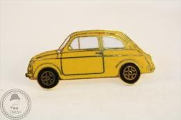 Classic Car - Fiat / Seat 600 Tipe - Yellow Colour  - Pin Badge - Fiat