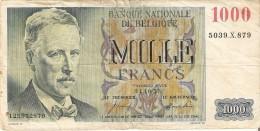 BILLETE DE BELGICA DE 1000 FRANCOS DEL AÑO 1953   (BANK NOTE) 31.10.1953 - [ 2] 1831-... : Belgian Kingdom