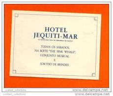 HOTELS LUGGAGE LABEL ETIQUETTE DE VALISE BRASIL BRAZIL BRÉSIL PERNANBUCO GUARAJÁ - Hotel Labels