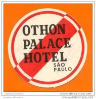 HOTELS HOTEL  LUGGAGE LABEL ETIQUETTE DE VALISE BRASIL BRAZIL BRÉSIL SÃO PAULO SAO PAULO SP - Etiquettes D'hotels