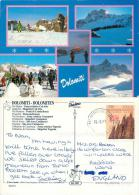 Dolomiti Ski Resorts, Italy Italia Postcard Posted 1997 Stamp - Italy