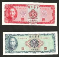 [NC] CHINA / TAIWAN - 5 & 10 YUAN (1969) LOT Of 2 DIFFERENT BANKNOTES - Cina