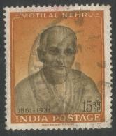 India. 1961 Birth Centenart Of Pandit Motilal Nehru. 15np Used. SG 438 - India