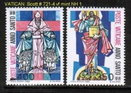VATICAN   Scott  # 721-4**  VF MINT NH - Vatican