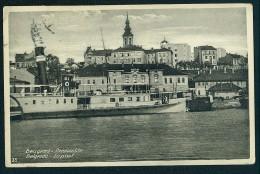 Beograd. Pristaniste. Le Pont ----- Postcard Traveled - Serbia