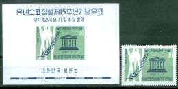 South Korea 1961 Unesco MNH** - Lot. A312 - Corée Du Sud