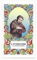 Santino San Vittorino Eremita Di San Severino Marche - Holy Card - Image Pieuse - Andachtsbilder - Images Religieuses