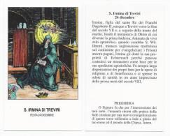Santa Irmina Di Treviri - Trier - Sc1(260) - Images Religieuses