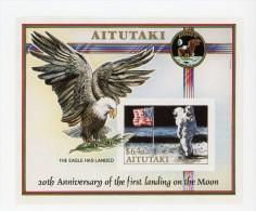 Aitutaki-1989-1er Homme Sur L Lune-Aigle-YT B73***MNH