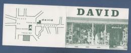 CARTE COMMERCIALE DAVID - DESSOUS FEMININS ORTHOPEDIE RUE D'ALSACE 49 ANGERS - Visiting Cards