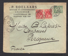 PAYS-BAS 1914/1918 Usages Courants Obl. S/enveloppe Censure Militaire Française - 1891-1948 (Wilhelmine)
