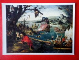 Painting By Jan Mandijn . Landscape With A Scene From The Legend Of St. Christopher - Flemish Art - Unused - Peintures & Tableaux