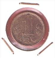 DANEMARK  //  1  ORE 1917   //  KM # 812.1  //    ETAT  TTB  //  RARE - Denmark