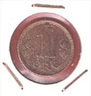 DANEMARK  //  1  ORE 1917   //  KM # 812.1  //    ETAT  TTB  //  RARE - Danemark