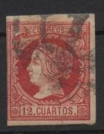 12 Cu. Carmin; Edifil No.53; Michel Nr.45, Usado - Usados