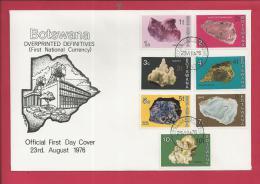 BOTSWANA, 1976, 2 X Mint FDC, Gemstones Overprints, MI 155-168, F3609 - Botswana (1966-...)