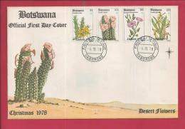 BOTSWANA, 1978,  Mint FDC, Desert Flowers, MI 221-224, F3616 - Botswana (1966-...)