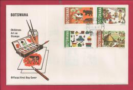 BOTSWANA, 1982,  Mint FDC,Children Drawings, MI 291-294, F3634 - Botswana (1966-...)