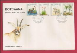 BOTSWANA, 1983,  Mint FDC, Endangered Species, MI 325-328, F3636 - Botswana (1966-...)
