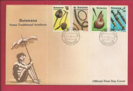 BOTSWANA, 1983,  Mint FDC, Traditional Artefacts, MI 329-332, F3637 - Botswana (1966-...)