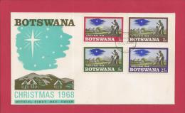 BOTSWANA, 1968,  Mint FDC, Christmas, MI 47-50, F3603 - Botswana (1966-...)