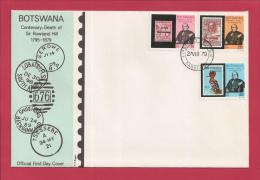BOTSWANA, 1979,  Mint FDC, Sir Rowland Hill, MI 234-236, F3619 - Botswana (1966-...)