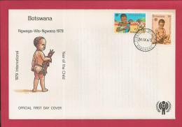 BOTSWANA, 1979,  Mint FDC, Nawaga, Wa Year Of The Child MI 237-238, F3620 - Botswana (1966-...)