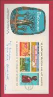 BOTSWANA, 1968,  Addressed FDC, National Museum, Block 1, MI 43-46, F3639 - Botswana (1966-...)