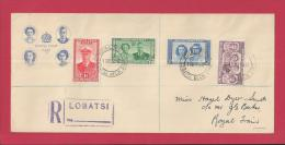 BECHUANALAND 1947,  Addressed FDC, Royal Visit, MI 118-121, F3640 - Bechuanaland (...-1966)