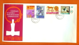 BOTSWANA 1973,  Mint FDC, Meteorological Org., MI 96-99, F3150 - 1885-1964 Bechuanaland Protectorate