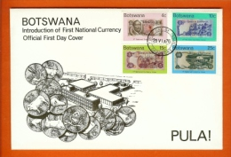 BOTSWANA 1976,  Mint FDC, First Currency., MI 151-154, F3139 - Bechuanaland (...-1966)