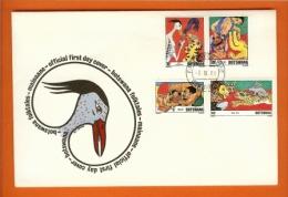 BOTSWANA 1980,  Mint FDC, Folktales,  MI 253-256, F3142 - Bechuanaland (...-1966)