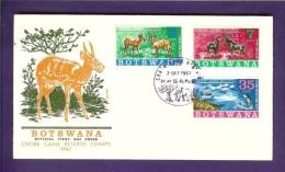 BOTSWANA 1967,  Mint FDC,Chobe Game Reserve,  MI 37-39, F1067 - Bechuanaland (...-1966)