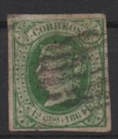 12 Cu. Verde; Edifil No.65; Michel Nr.57, Usado - Usados