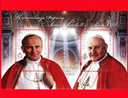 Nuovo - POLONIA - 2014 - Canonizzazioni Dei Papi Giovanni Paolo II E Giovanni XXIII  - BF - 5 Zl × 2 • Ritratti - Blocks & Kleinbögen