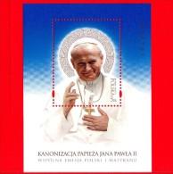 Nuovo - POLONIA - 2014 - Canonizzazione Di Papa Giovanni Paolo II - BF - 5 Zl • Ritratto - Blocchi E Foglietti