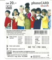 Liechtenstein-telecom Fl-distributed By-(Children(-(20chf)-use D Card+1 Card Prepiad Free - Liechtenstein