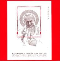 Nuovo - POLONIA - 2014 - Canonizzazione Di Papa Giovanni Paolo II - BF - 8.50 Zl • Ritratto - Blocchi E Foglietti