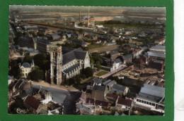 59 HAUBOURDIN -EGLISE SAINT MACLOU LA CIMENTERIE LIGNE DE CHEMIN FER VUE AERIENNE CPSM Année 1960 - Haubourdin