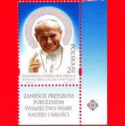 Nuovo - MNH - POLONIA - 2014 - Canonizzazione Di Papa Giovanni Paolo II - 2.35 Zl • Ritratto - Ungebraucht