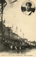 NATATION CLARISSE GARNIER  CHAMPIONNE DE LA TRAVERSEE DE PARIS EN 1912 PLONGEON A VELO - Kunst- Und Turmspringen