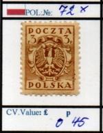 POLAND:PROVSIONAL #CLASSIC DEFINITIVES (POL 250-1 (6) - 1919-1939 Republik