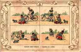 Humour 348 - Histoire Sans Paroles - L'aumône Du Cycliste - Humour