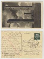 Deutsches Reich Olympia Postkarte mit Sonderstempel L�nderkampf Amerika Deutschland 1938