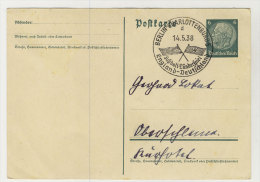 Deutsches Reich Ganzsache Sonderstempel Fussball L�nderspiel England Deutschland 1938
