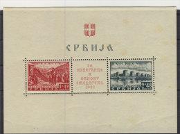 Besetzung Serbien Block 1 ** postfrisch - gelbfleckig